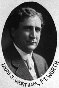 Louis J. Wortham, member of the Texas Legislature (1909-1915) for Tarrant County.  Photo from Texas House of Representatives.
