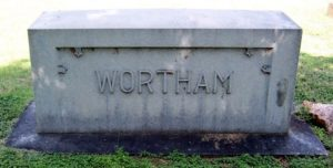 Wortham Family plot in Oakwood Cemetery, Fort Worth, Texas.  photo from Find A Grave.