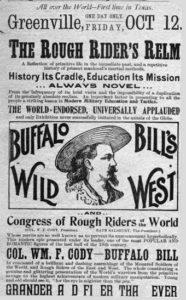 Flyer for Buffalo Bill's Wild West Show